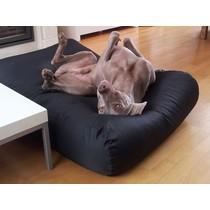 Hondenbed zwart vuilafstotende coating medium