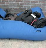Dog's Companion® Hondenkussen medium kobalt blauw vuilafstotende coating