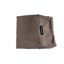 Hoes hondenbed small tweed lichtbruin
