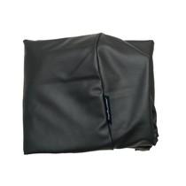 Hoes hondenbed medium zwart leather look