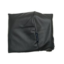 Hoes hondenbed superlarge zwart leather look