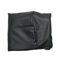 Hoes hondenbed zwart leather look superlarge