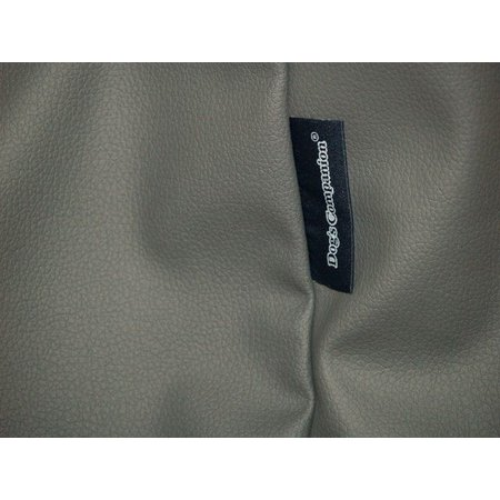 Dog's Companion® Hoes hondenbed muisgrijs leather look small
