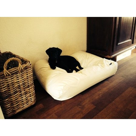 Dog's Companion® Hondenbed ivory leather look medium