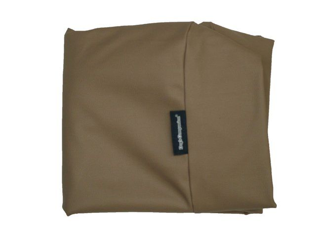 Dog's Companion® Hoes hondenbed taupe leather look small