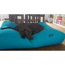 Hondenbed small aqua blauw