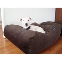 Hondenbed medium chocolade bruin ribcord