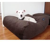 Dog's Companion® Hondenbed large chocolade bruin ribcord