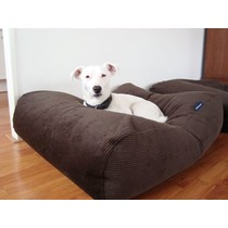 Hondenbed superlarge chocolade bruin ribcord