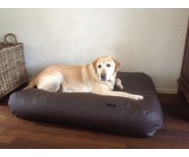 Dog's Companion® Hondenbed extra small chocolade bruin leather look