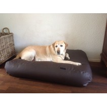 Hondenbed extra small chocolade bruin leather look