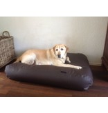 Dog's Companion® Hondenbed chocolade bruin leather look large
