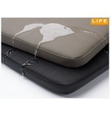 Life Outdoor hondenkussen zwart (textilene/leather)