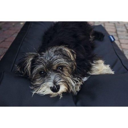 Dog's Companion® Hondenbed medium zwart leather look