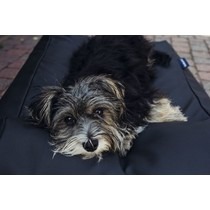 Hondenbed large zwart leather look