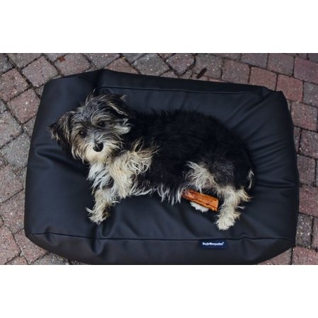 Dog's Companion® Hondenbed zwart leather look large