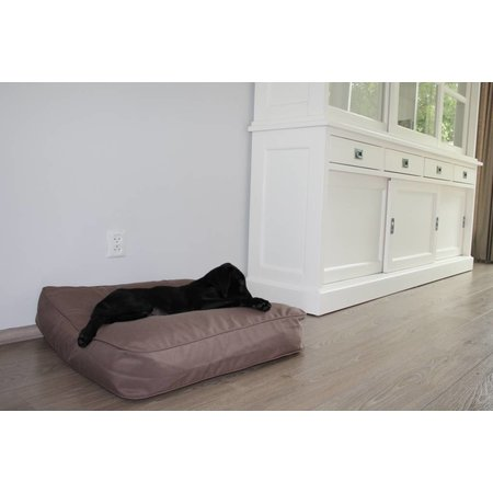 Dog's Companion® Hondenbed bench taupe 68 x 62 x 10 cm