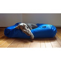 Hondenkussen kobalt blauw vuilafstotende coating extra small