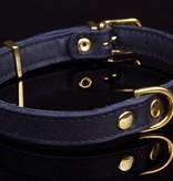 Dog's Companion® Verstelbare leren halsband exclusive gold