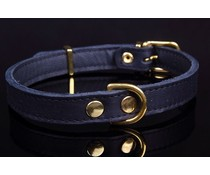 Dog's Companion® Leren halsband (exclusive gold)
