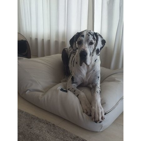 Dog's Companion® Hondenbed ivory leather look