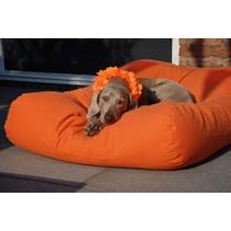 Hondenbed oranje medium