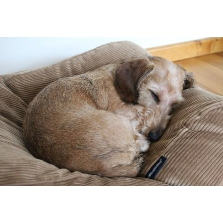 Dog's Companion® Hondenbed large camel ribcord