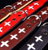 Leren halsband Swiss