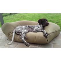 Hondenkussen khaki vuilafstotende coating extra small