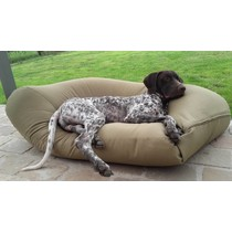 Hondenkussen superlarge khaki vuilafstotende coating