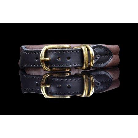 Leren halsband (soft, brass)