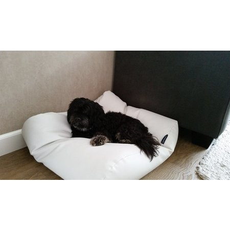 Dog's Companion® Hondenbed large ivory leather look