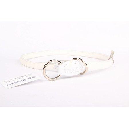 Handgemaakte leren sliphalsband (rond)