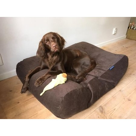 Dog's Companion® Hondenbed chocolade bruin ribcord small