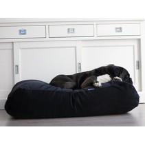 Hondenbed large zwart ribcord