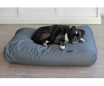 Dog's Companion® Hondenbed extra small muisgrijs leather look