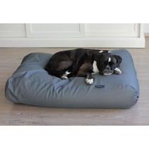 Hondenbed medium muisgrijs leather look