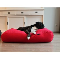 Hondenbed small rood ribcord