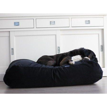 Dog's Companion® Hondenbed zwart ribcord extra small
