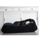 Dog's Companion® Hondenbed small zwart ribcord