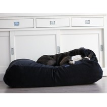 Hondenbed small zwart ribcord