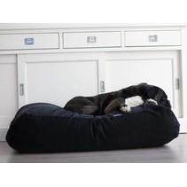 Hondenbed medium zwart ribcord
