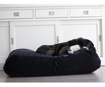 Dog's Companion® Hondenbed superlarge zwart ribcord
