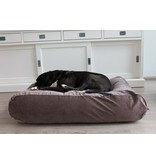 Dog's Companion® Hondenbed small bruin/beige duo ribcord