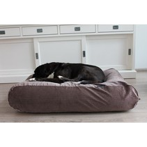 Hondenbed small bruin/beige duo ribcord