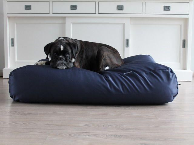 Dog's Companion® Hondenbed extra small donkerblauw vuilafstotende coating