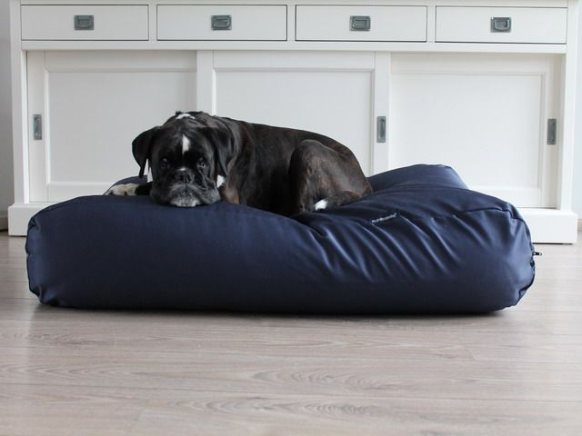 Dog's Companion® Hondenbed medium donkerblauw vuilafstotende coating