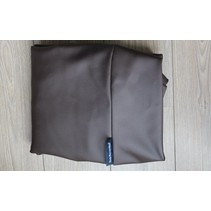 Hoes hondenbed chocolade bruin leather look large