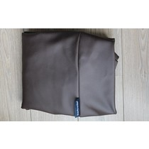 Hoes hondenbed chocolade bruin leather look