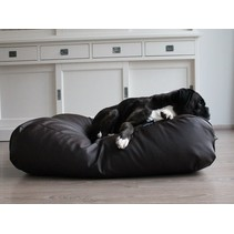 Hondenbed small chocolade bruin leather look